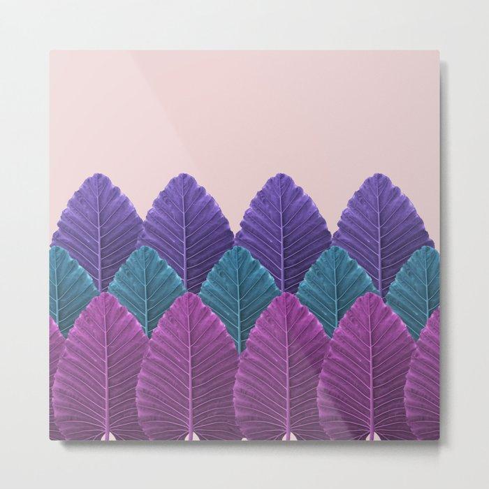 Shades of Palm Metal Print
