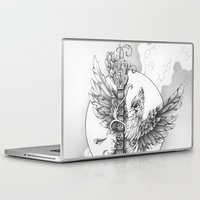 banjo Laptop & iPad Skins featuring Banjo Bird by Brady Scott