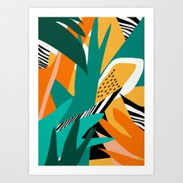 Jungle Abstract Art Print
