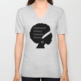 Empowered Women Empower Women - Afro Unisex V-Neck