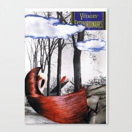 voyage extraordinaire - collage Canvas Print