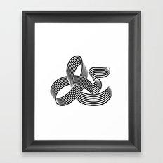 Eye bending Ampersand. Framed Art Print
