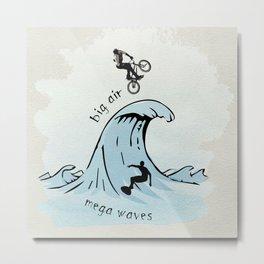 big air, mega waves Metal Print