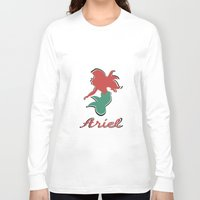 ariel Long Sleeve T-shirts featuring Ariel by husavendaczek