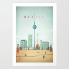 Vintage Berlin Travel Poster Art Print
