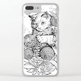 Color-Me Feline: Maine Coon Clear iPhone Case