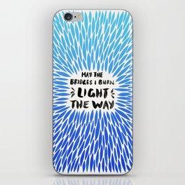 Bridges Burned – Blue Ombré iPhone Skin