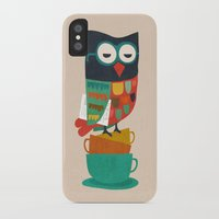 budi iPhone & iPod Cases featuring Morning Owl by Picomodi