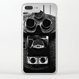 Turn to clear vision, Binoculars NYC Clear iPhone Case