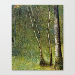 Georges Seurat The Forest at Pontaubert Canvas Print