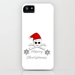 Merry Christmas Skull iPhone Case
