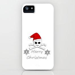 Merry Christmas Skull iPhone Case