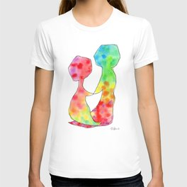 Love Love Love - equal love gay lesbian couple watercolor painting T-shirt