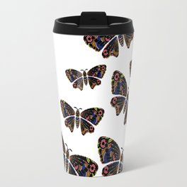 Authentic Aboriginal Art - Butterflies Travel Mug