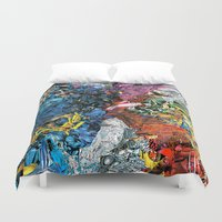 xmen Duvet Covers featuring The XMen by MelissaMoffatCollage