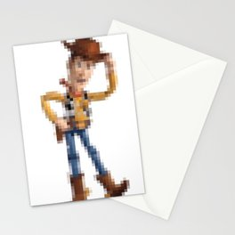 Woody Pixel Poster Stationery Cards