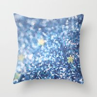 night sky Throw Pillows featuring Night Sky by Elizabeth
