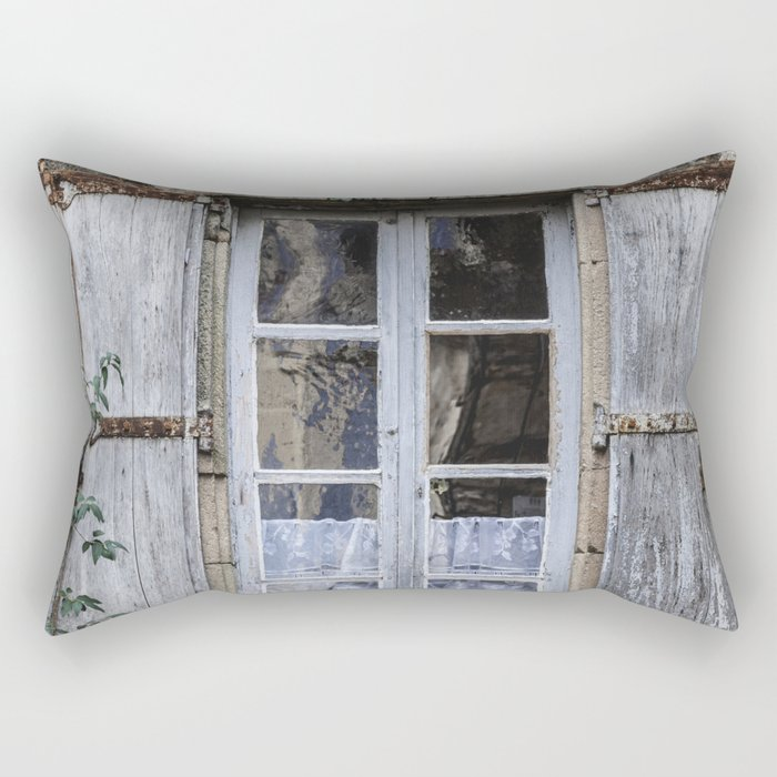 Old Window Rectangular Pillow