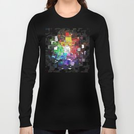 Spectral Geometric Abstract Long Sleeve T-shirt