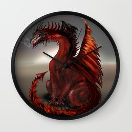 Challengers World Abstract Dragon Art Wall Clock