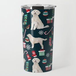 Golden Doodle unique christmas gifts for dog person dog breed pet portraits by pet friendly Travel Mug