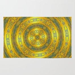 Yellow/Blue Manadala Rug