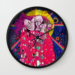 The Kiss Macabre Wall Clock