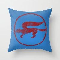 starfox Throw Pillows featuring McCloud Hero by Head Glitch