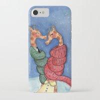 giraffes iPhone & iPod Cases featuring giraffes by knutsie
