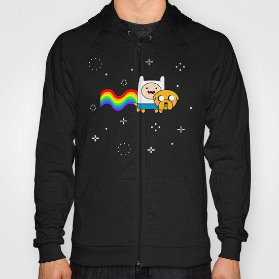 Nyan Time: Adventure Time plus Nyan Cat Hoody