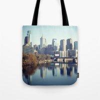 philadelphia Tote Bags featuring Philadelphia II by Kameron Elisabeth
