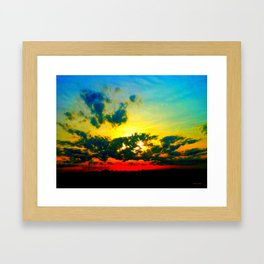Curdled Clouds Framed Art Print