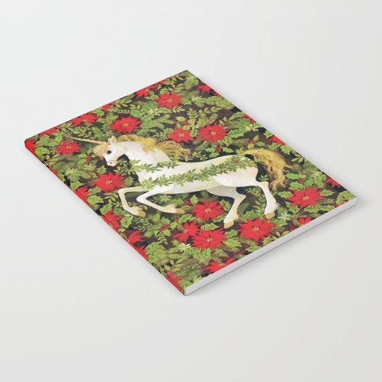 Christmas Unicorn Notebook