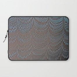 Raining Snow Water Marbling Laptop Sleeve