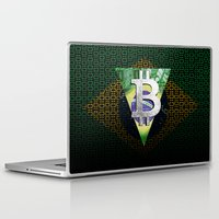 brazil Laptop & iPad Skins featuring bitcon Brazil by seb mcnulty