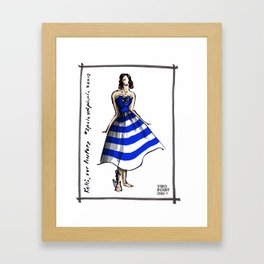 Kelsi at the Two Point Oh LA Blogger Picnic Framed Art Print