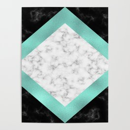 Mint marble Poster
