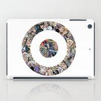 clint barton iPad Cases featuring clint barton hawkguy bullseye by captainkittyspa