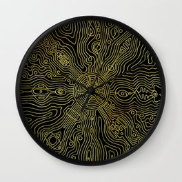 Heart of the crazy lines Wall Clock