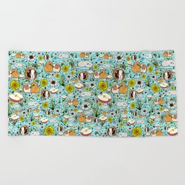 Guinea Pig Love Beach Towel
