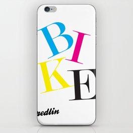 CMYK Bike iPhone Skin