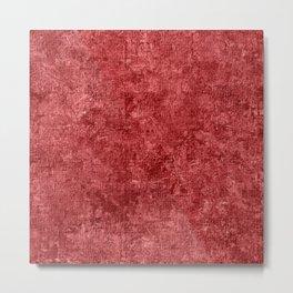 Cranberry Oil Painting Color Accent Metal Print