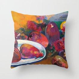 "Paul Gauguin ""Nature Morte Aux Mangos"" Throw Pillow"