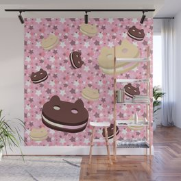 He left his family behind! Cookie Cat! Wall Mural