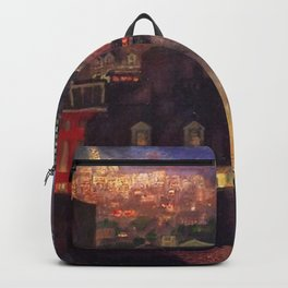 'The City from Greenwich Village' New York City subway cityscape by John French Sloan Backpack