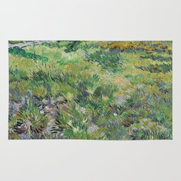 Long Grass with Butterflies by Vincent van Gogh Rug