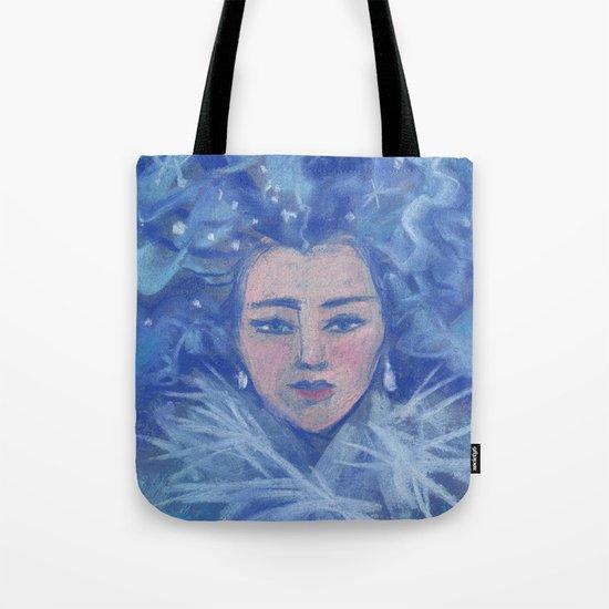 Snowgirl, fantasy art, Christmas &  New Year Tote Bag