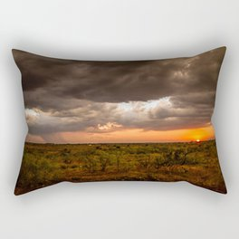 West Texas Sunset - Colorful Landscape After Storms Rectangular Pillow