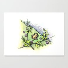 frog by the water Canvas Print