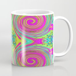 Groovy Abstract Pink Swirl Art 094 Pattern Coffee Mug